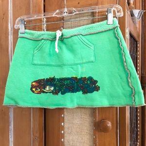 2B Free Green Mini Skirt With Draw String
